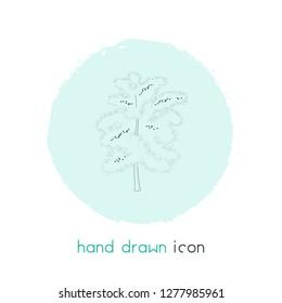 Blackthorn tree icon line element.  illustration of blackthorn tree icon line isolated on clean background for your web mobile app logo design.