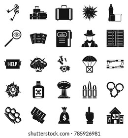 Blame icons set. Simple set of 25 blame  icons for web isolated on white background