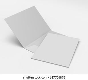 Blank A4 folder mock-up. 3D rendering