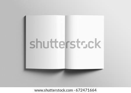 Blank A 4 Photorealistic Brochure Mockup On Stockillustration ...