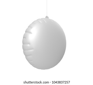 Blank Advertising PVC Inflatable Promotional Dangler And Hanging Air Balloon For Design Presentation. 3d Render Illustration.