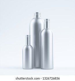 blank aluminum bottle isolated on a Limbo