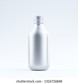 blank aluminum bottle isolated on a Limbo