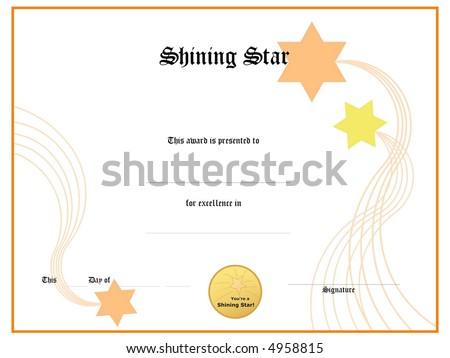 blank award certificate form stock illustration 4958815 shutterstock