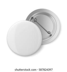 Blank badge. 3d illustration isolated on white background