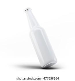 Blank Beer Bottle Mock-Up 3D illustration