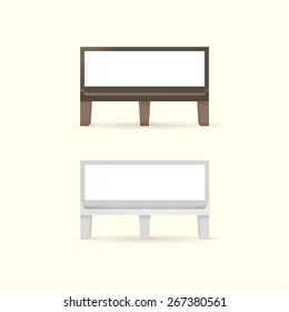 Blank Bench with Place for Message. Two colors