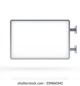 Blank Billboard or light box template on white background