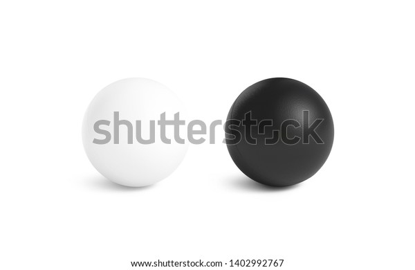 Blank black and white stress ball mockup,front view isolated, 3d rendering. Clear empty stres reliever soft balloon mock up design template. Clean antistress bal. Squeeze it in your hands and soothe.