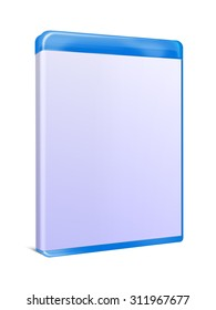 Blank Blu-ray Box Isolated on white