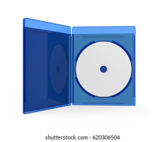Blank Bluray Case Isolated. 3D rendering