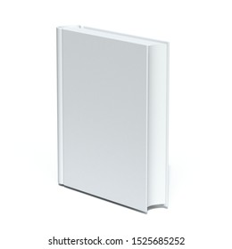 Blank book cover 3D rendering illustration isolated on white background