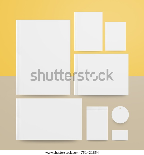 Blank Book Cover Tag Template On Stock Illustration 751421854