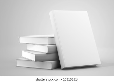 Blank book cover white isolated