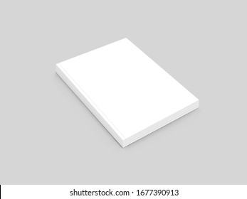 Blank book isolated on grey to replace your design and manazine Cover design