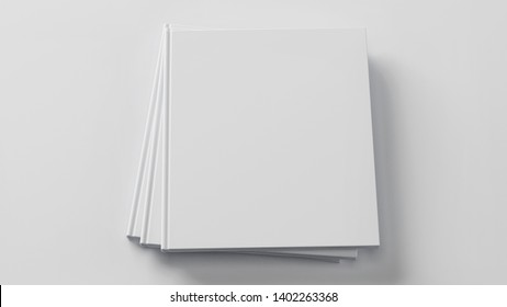 Blank book template for presentation. 3D rendering.