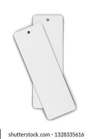 Blank bookmark mockup. 3d illustration isolated on white background