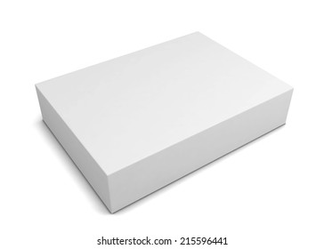 Blank box. 3d illustration isolated on white background