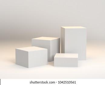 Blank Box Display. 3D rendering