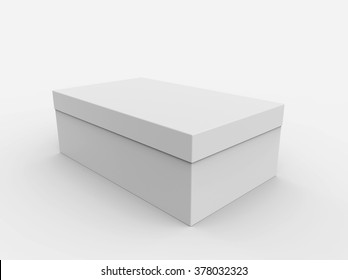 Blank box isolated on a white background