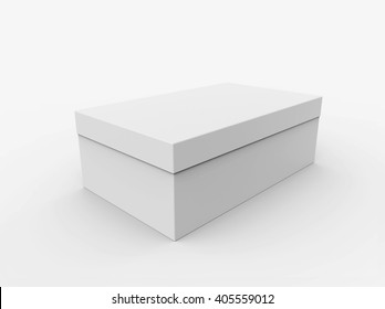 Blank box isolated on white background, Mockup for your Design. 3D illustration