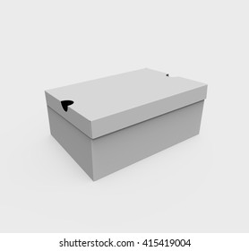 Blank box, isolated on a white background. 3D illustration