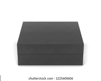 Blank box package. 3d illustration isolated on white background