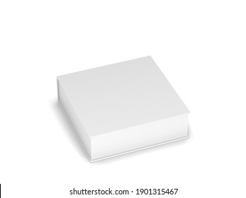 Blank box packaging mockup. 3d illustration isolated on white background