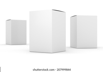 blank box vertical products template