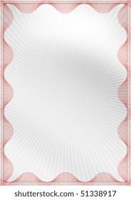 Blank business certificate.