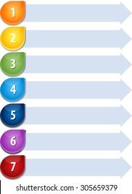 Blank business strategy concept infographic diagram illustration Bullet List Seven