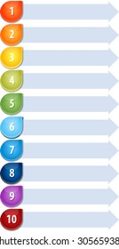 Blank business strategy concept infographic diagram illustration Bullet List Ten