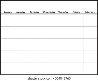 Blank Calendar Images Stock Photos Vectors Shutterstock