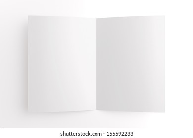 Blank card isolated on white, to replace message or image on cover
