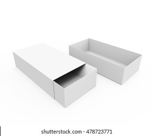 Blank Cardboard Sliding Boxes For small items, matches, and other things. 3D illustration