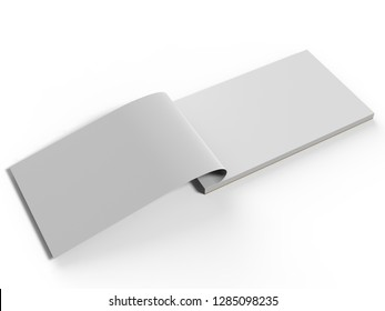 Blank cash voucher book for branding mock up. 3d rendering illustration.