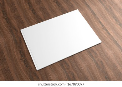 Blank Catalog on the wooden Background for your design