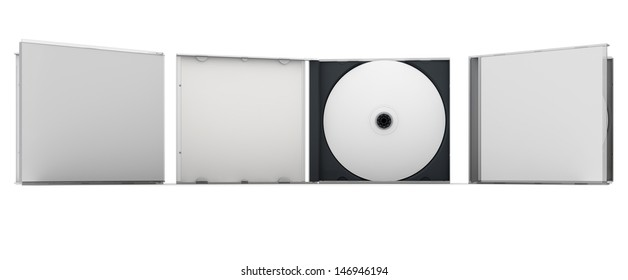 Blank CD and CD case mock up set. Clipping path included for easy selection.