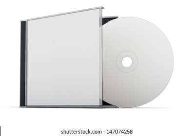 Blank CD / DVD mock up set. Clipping path included for easy selection.