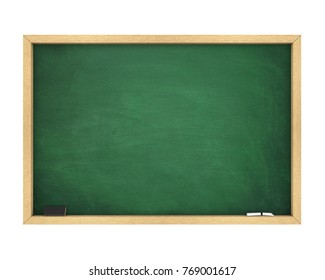 Blank Chalkboard Isolated. 3D rendering