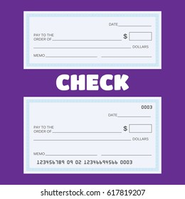Blank check . Blank check template. Check