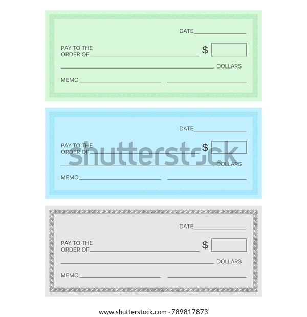 Blank Check Template Check Template Banking Stock Illustration 789817873