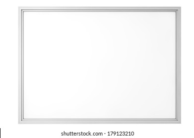 Blank Classroom Whiteboard isolated on a white background