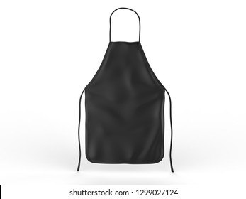 Blank clean all purpose apron for mock up and branding. 3d render illustration.