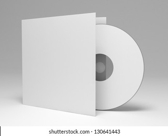 Blank compact disk with cover