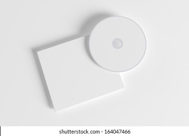 Blank compact disk isolated on white background