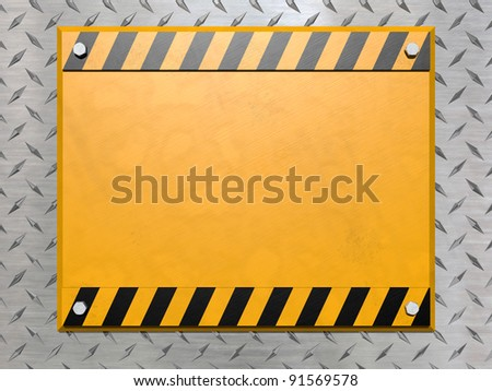 blank construction sign bolted diamond plate stock illustration
