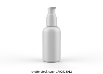 Blank cosmetic container bottle with pump for branding and mock up, 3d render illustration.