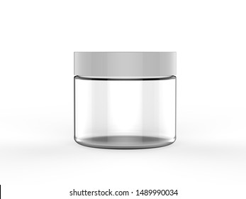 Blank cosmetic container for branding. 3d render illustration.