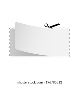 blank coupon template dotted line scissors stock vector royalty